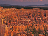 View of the Hoodoos or Eroded Rock Formations in Bryce Amphitheater, Bryce Canyon National Park, Photographic Print