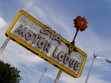Zia Motor Lodge Sign, New Mexico, USA Photographic Print by Nancy & Steve Ross