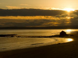 Double Bluff Beach at Sunset, Useless Bay, Whidbey Island, Washington, USA Photographic Print by Trish Drury