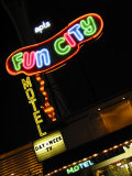 Fun City Motel Sign, Las Vegas, Nevada, USA Photographic Print by Nancy & Steve Ross