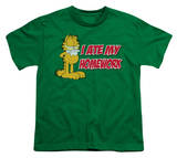 Youth: Garfield - I Ate My Homework T-shirts