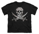 Youth: Novelty - Distressed Jolly Roger Shirts