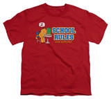 Youth: Garfield - School Rules T-Shirt