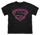 Youth: Superman - Fuchsia Flames Shirt