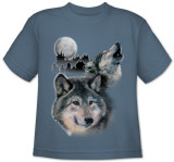 Youth: Animal Wildlife - Wolf Howl T-Shirt