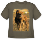 Youth: Animal Wildlife - Sunset Lion T-shirts