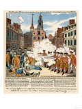 Paul Revere's Engraving of the Boston Massacre, 1770, an Event Leading to the Revolutionary War Giclee Print