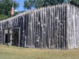 Fort Mandan, a Reconstructed Lewis and Clark Campsite on the Missouri River, North Dakota Photographic Print