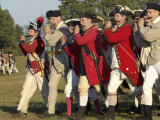 British Fifers Marching in a Reenactment on the Yorktown Battlefield, Virginia Photographic Print