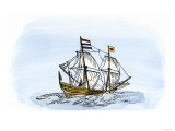One of Henry Hudson's Ships, 17th Century Giclee Print