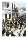 U.S. Troops Entering Ponce, Puerto Rico, During the Spanish-American War, c.1898 Giclee Print