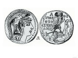 Silver Coin of Ancient Athens Giclee Print