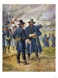 General Burnside Ordering Hooker to Charge the Heights at Fredericksburg, Virginia Giclee Print