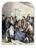 Delegates Signing the Declaration of American Independence, July 4, 1776 Giclee Print
