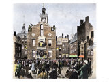Reading the Declaration of Independence at the Old State House in Boston, c.1776 Giclee Print