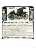 Early Electric Car Advertisement for the Babcock Electric Victoria Phaeton, c.1907 Giclee Print
