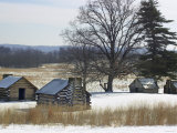Continental Soldiers&#39; Cabins Reconstructed at the Valley Forge Winter Camp, Pennsylvania Photographic Print