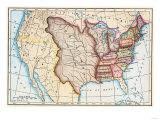 Map of the U.S. in 1803, Showing the Louisiana Purchase Giclee Print