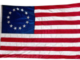Thirteen-Star Flag of the New United States at Hanging at the Monmouth, New Jersey Photographic Print