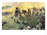 American Artillery Engaged at the Battle of Monmouth, New Jersey, c.1778 Giclee Print