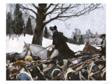 George Washington Marching the Continental Army to Valley Forge Winter Camp Lámina giclée