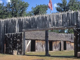 Fort Mandan, Reconstructed Lewis and Clark Campsite on Missouri River, North Dakota Photographic Print