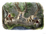 Prospectors Traveling to the California Gold Regions Cross through the Isthmus of Panama, c.1849 Giclee Print
