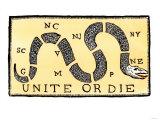 Unite or Die, c.1750 Giclee Print