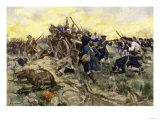 First Maryland Regiment Retaking British Field Artillery at Guilford Court House, North Carolina Giclee Print