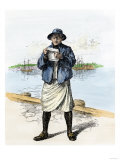 American Sailor of the Revolutionary War Era, 18th Century Giclee Print