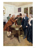 Samuel Adams Warning British Royal Governor Thomas Hutchinson after the Boston Massacre, c.1770 Giclee Print