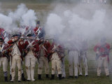 British Sortie against a Redoubt Reenactment at Yorktown Battlefield, Virginia Photographic Print