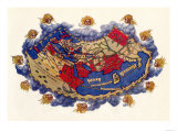 Ptolemy's World Map, c.150 AD Giclee Print