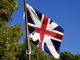 British Flag over Inner Defensive Redoubt at Yorktown Battlefield, Virginia Photographic Print