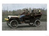 Family Riding in a Steam-Powered White Company Automobile, c.1907 Reproduction procédé giclée