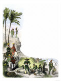 Mexican Troops on the March during the U.S.-Mexican War, c.1840 Giclee Print