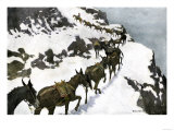 Mule Train Going to the Silver Mines of Colorado Giclee Print