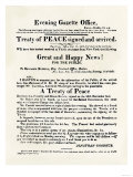 American Handbill Announcing the Treaty of Ghent, Ending the War of 1812 Premium Giclee Print