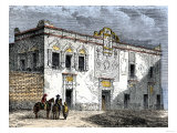 House of Hernando Cortes in Mexico City, Built by Native Labor in the 1500 Giclee Print
