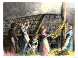 Children Laboring in a Twine-Making Factory, New York City, c.1870 Giclee Print