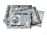 Continental Bills, American Currency during the Revolutionary War Giclee Print