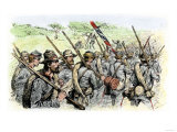 Confederate Troops on the March, American Civil War Giclee Print