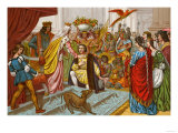 Columbus Bringing Gifts from the New World to Queen Isabella of Spain 1492 Giclee Print