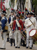 American Army Reenactors March to the Surrender Ceremony at Yorktown Battlefield, Virginia Photographic Print