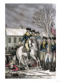 Hessian Commander Rahl Mortally Wounded during the American Attack on Trenton, c.1776 Giclee Print