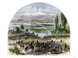 U.S. Army Approaching Mexico City during the U.S.-Mexican War, c.1840 Giclee Print