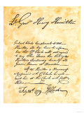George Rogers Clark's Handwritten Demand for the Surrender of Vincennes, Indiana Giclee Print
