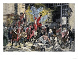 Mob Liberating Prisoners after Capturing the Bastille in the French Revolution Giclee Print