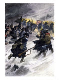 Benedict Arnold's Attack on the British in Quebec in the Winter of 1775 Giclee Print