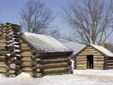 Continental Army Soldiers' Cabins Reconstructed at Valley Forge Winter Camp, Pennsylvania Photographic Print